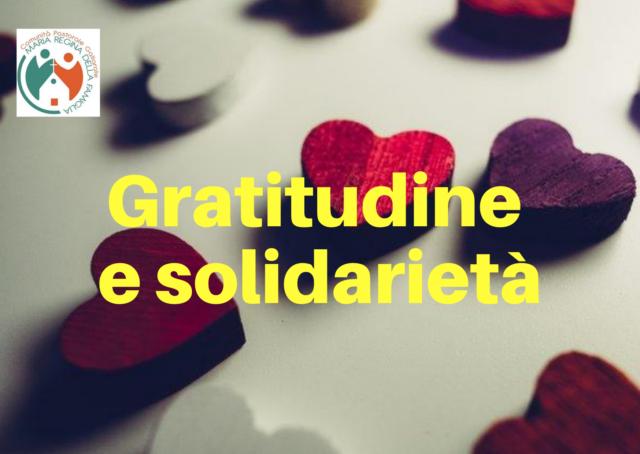 Gratitudine e solidarietà
